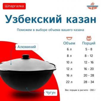 Узбекские чугунные казаны (Наманган) в Донецке - большой ассортимент